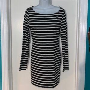 Forever 21 long sleeve striped dress size large